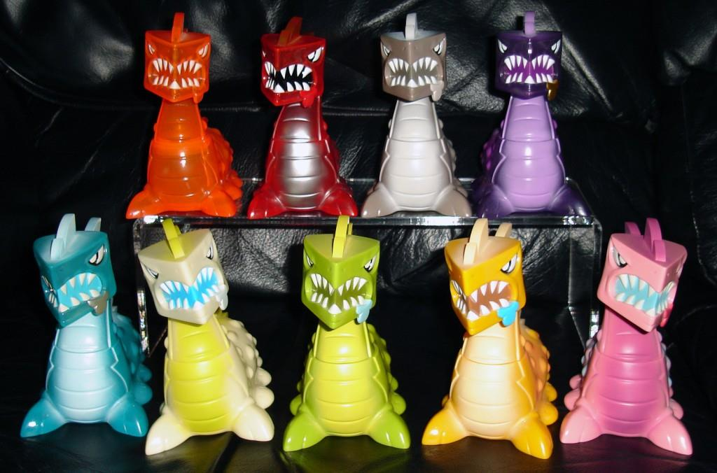 Joe Ledbetter's Kaiju For Grown-ups (KFGU) Full Set of Slugonnadon Vinyl Toys