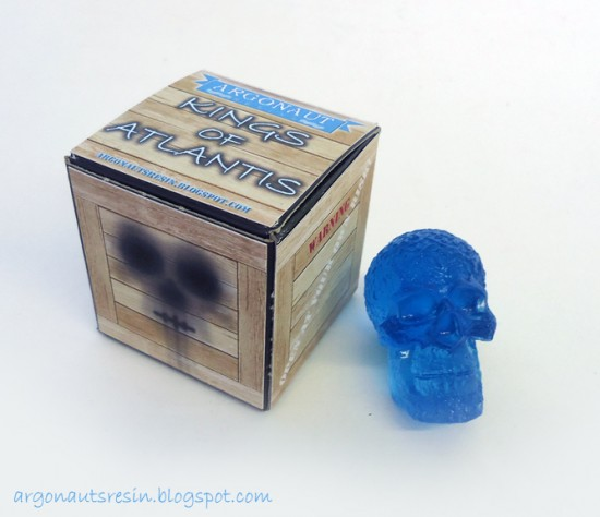 Kings of Atlantis mini-skulls by Argonaut Resins