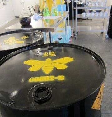 Breaking Bad meth lab installation by Pretty in Plastic