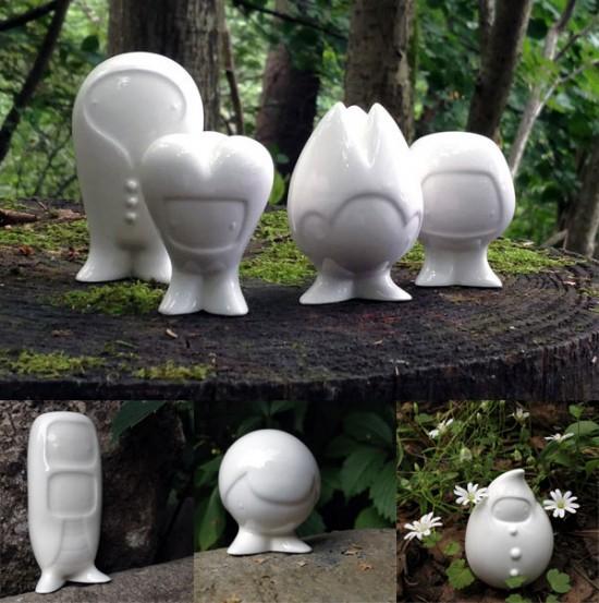 Full set of Sergey Safonov's Flirps in porcelain