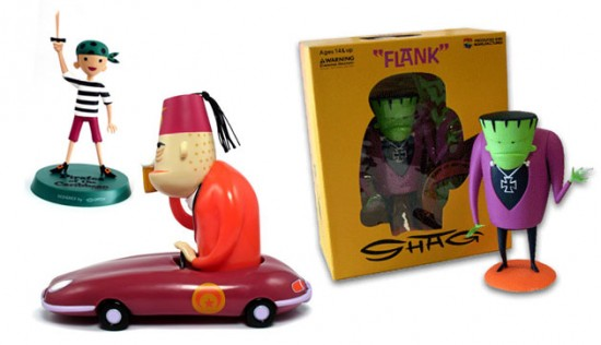 Shag Toys: Pirate Boy (2006), Shriner (2010), Flank (2004) - Shag interview