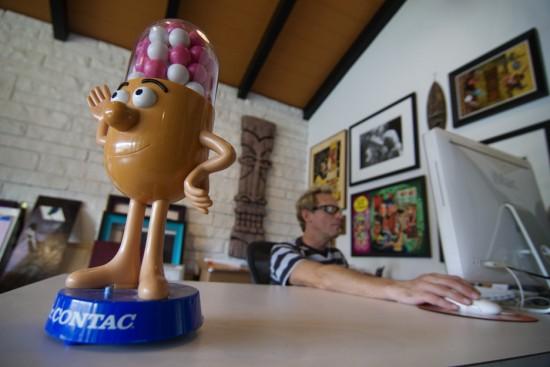 Shag in his studio (2010) © Mark Berry for Bizarre Magazine