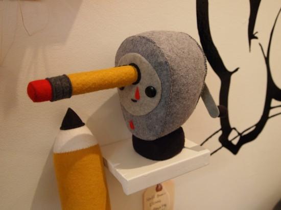 plush pencil sharpener by Steff Bomb