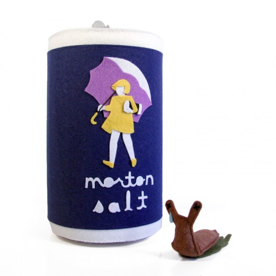 Morton Salt plush by Steff Bomb