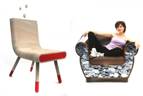 The Anti-Crise Stash Chair by Pedro Gomes & the DIY Stash Chair by Straight Line Designs