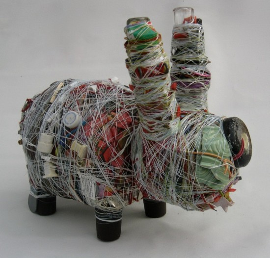 Junk Art Labbits by Donald Edwards