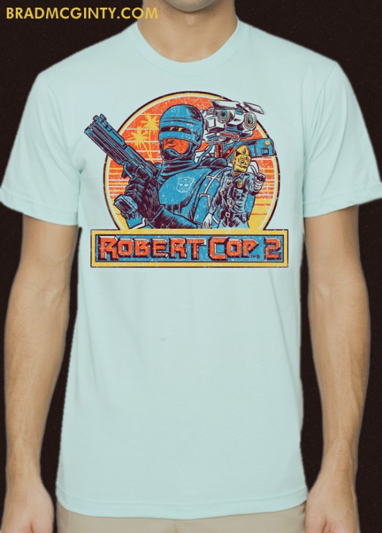 Robert Cop bootleg T-shirt by Brad McGinty