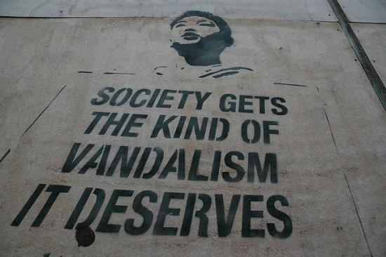 Society Gets The Kind of Vandalism It Deserves