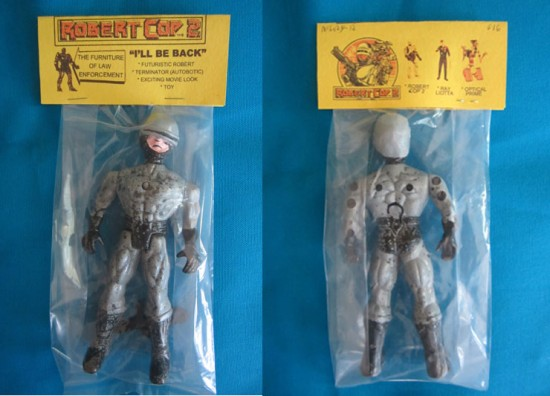 Robert Cop 2 bootleg action figures by Brad McGinty