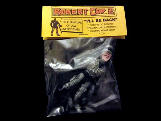 Robert Cop bootleg action figures by Brad McGinty