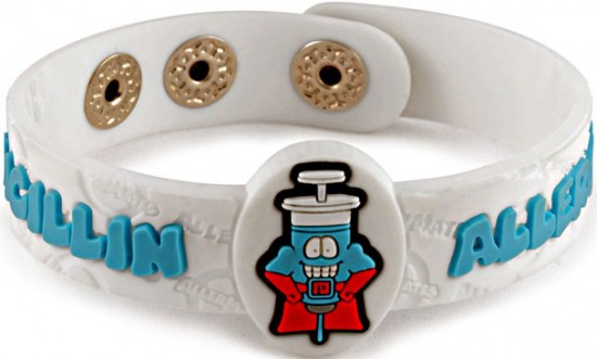 Allermates: cute character design wrist bands for allergic kids