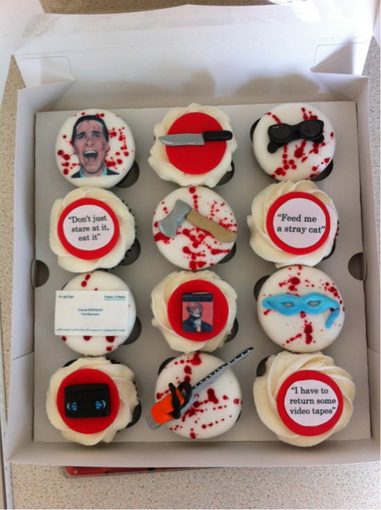 American Psycho Cupcakes