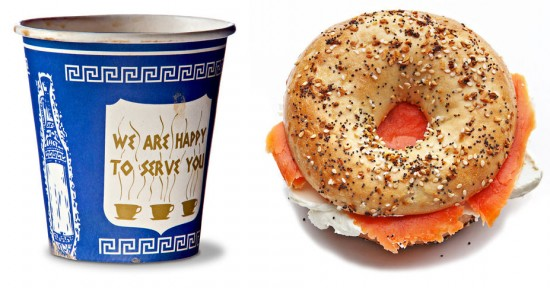 Greek Coffee Cup (1960s) & The Bagel (early 1900s)