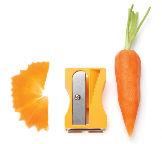 Karoto carrot pencil sharpener by Avichai Tadmor