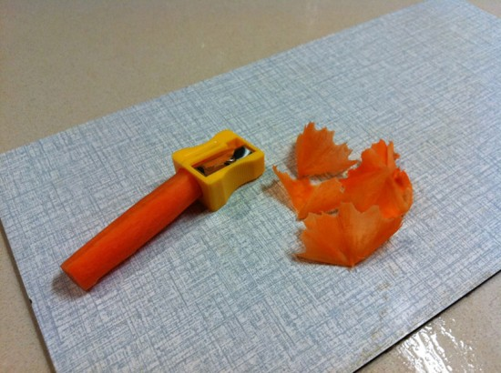 Carrot Peeler Pencil Sharpener