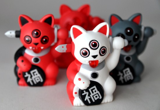 Mini Misfortune Cats by Ferg x Playge