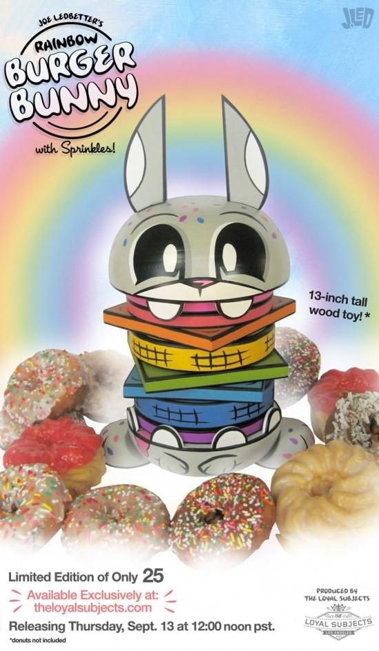 Rainbow Burger Bunny by Joe Ledbetter x Loyal Subjects