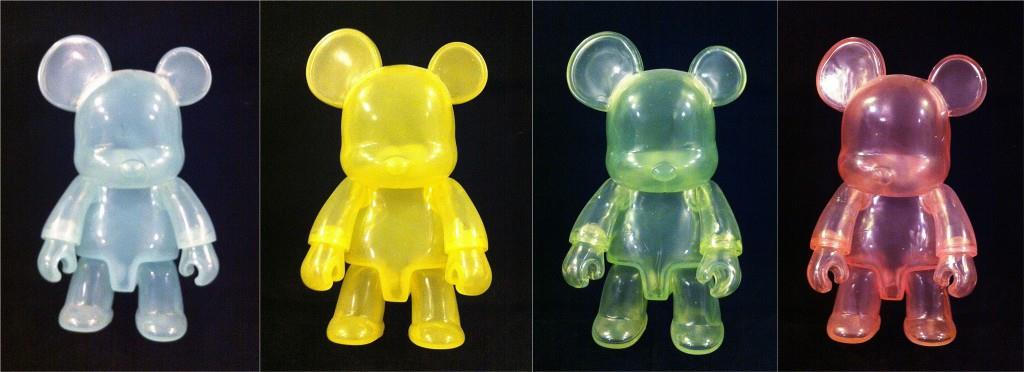 Toy2R's Qee Bear prototypes