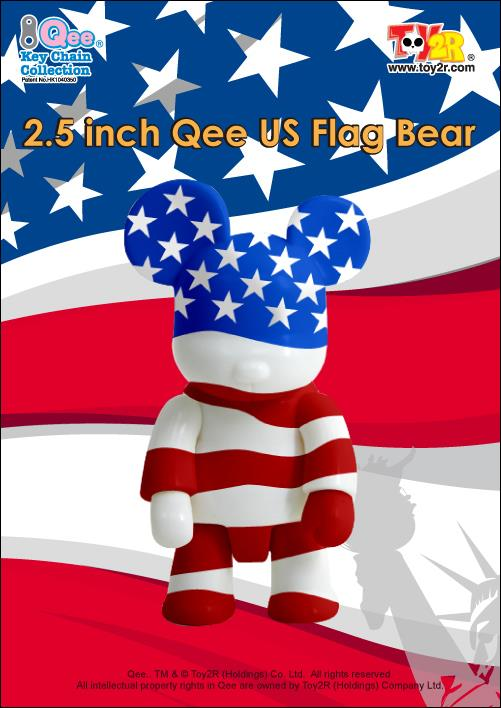 Toy2R USA Flag Bear