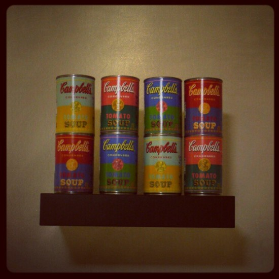 Andy Warhol x Campbell's soup cans. Photo by @eddiekrueger.