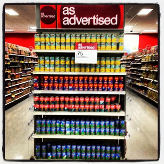 Andy Warhol x Campbell's soup cans at Target. Photo by @jeremyriad.
