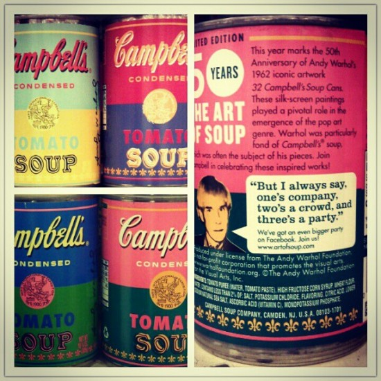 Andy Warhol x Campbell's soup cans. Photo by @krstipop.