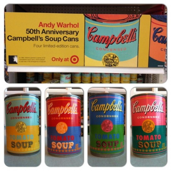 Andy Warhol x Campbell's soup cans. Photo by @sookielover91.
