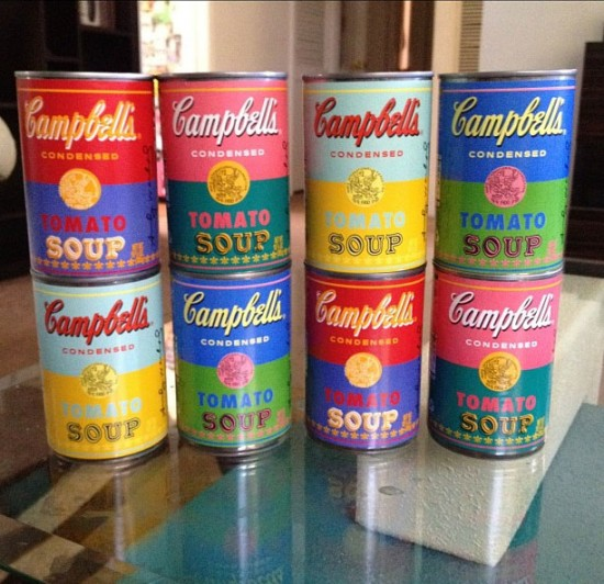 Andy Warhol x Campbell's soup cans. Photo by @the_status_faction.