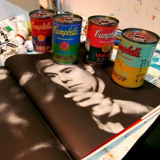 Andy Warhol x Campbell's soup cans. Photo by Brent Nolasco.