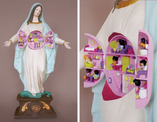 Pop Culture Virgin Mary Statues © Soasig Chamaillard
