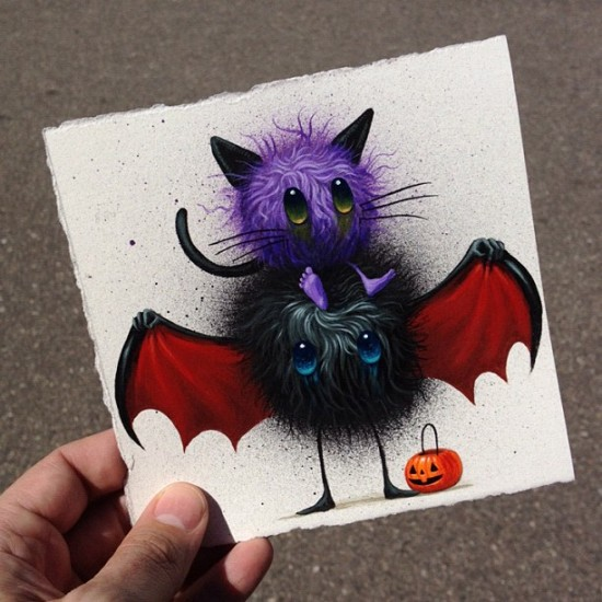 Jeff Soto's Candy Eater original painting