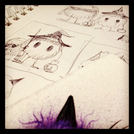 Jeff Soto's Candy Eater sketches