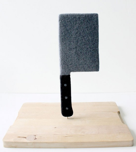 Needlefelted cleaver by Moxie
