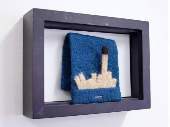 Needlefelted matchsbook by Moxie