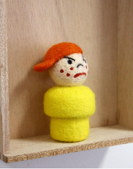 Needlefelted Playmobile toy by Moxie