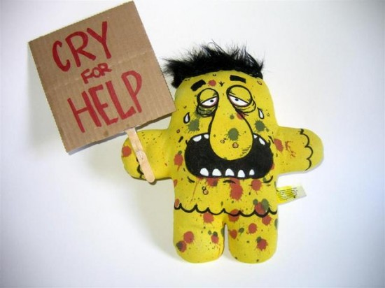 Cry for Help Plushform by Abe Lincoln Jr.