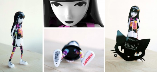 Emily the Strange 3D-printed figures from MAQET