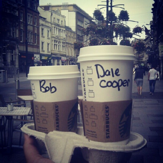 Bob and Dale Cooper go to Starbucks