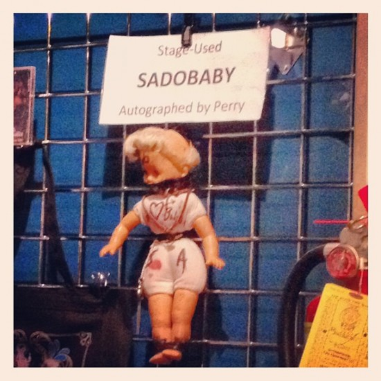Stage-used Sadobaby doll signed by Perry Farrell of Jane's Addiction