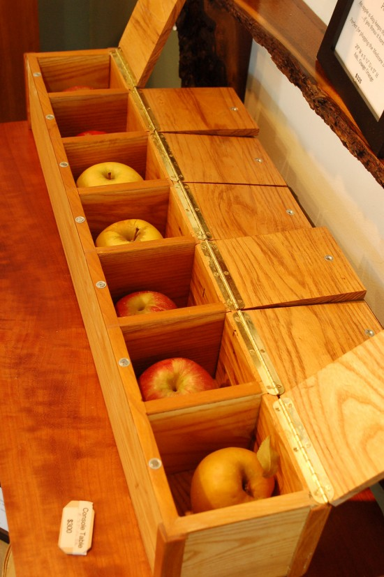 XL artisanal wood pill box by A.Drauglis