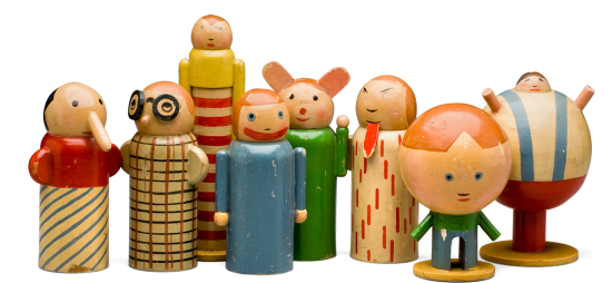 Children's Toy Design: Personifications of Childhood Misdeeds by Minka Podhajska (1930)