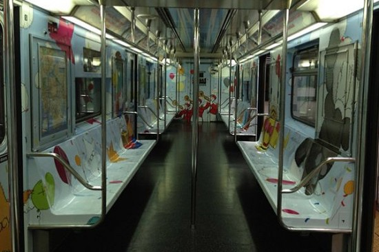 KAWS MTA subway car