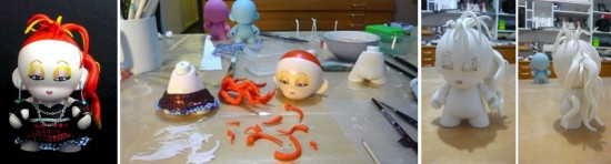 Munny Legends and Childhood Visuals: Cyndi Lauper by Stor Dubiné