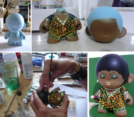 Munny Legends and Childhood Visuals: Gloria Gaynor by Stor Dubiné