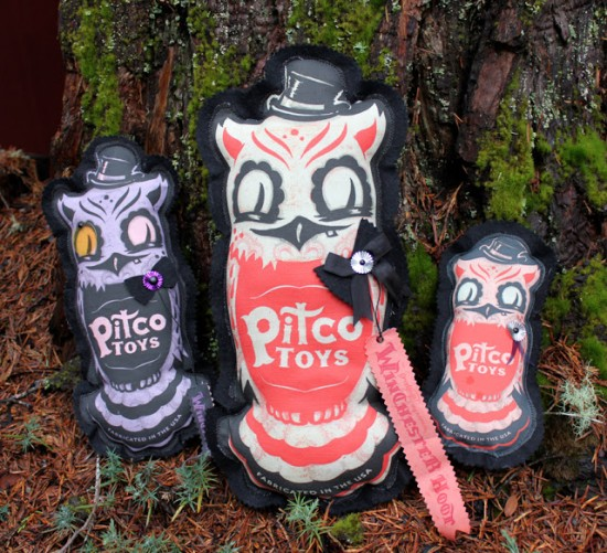 Winchester Hoot Owls by Camille Rose Garcia
