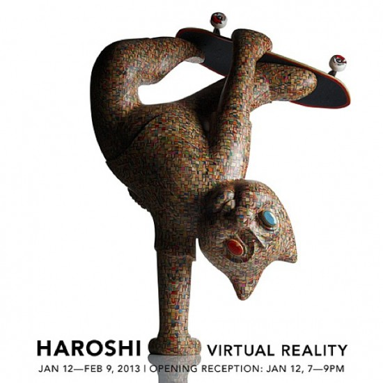 Haroshi's Virtual Reality at Jonathan Levine Gallery with Haroshi Skateboards