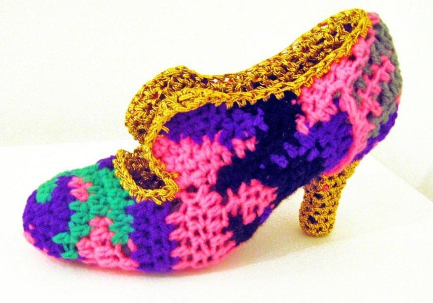 Crocheted Shoe by Olek