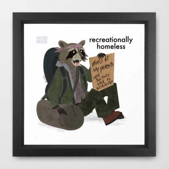 Recreationally Homeless Raccoon