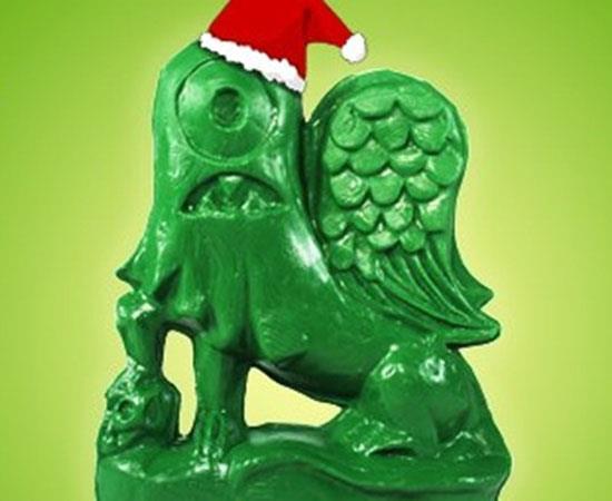 Army Green Roto-a-Matic Helper Dragon by Tim Biskup x Rotofugi