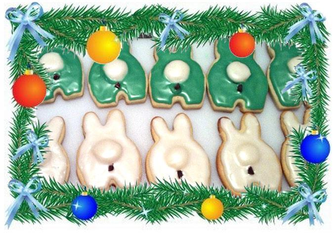 Year of the Labbit Christmas Cookies 2012